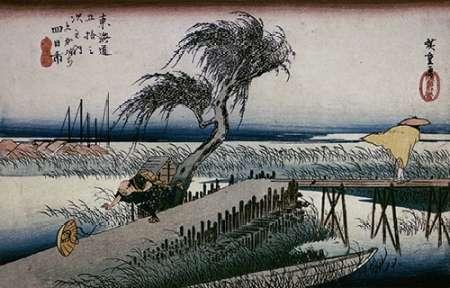 konfigurieren des Kunstdrucks in Wunschgröße Riverscene von Hiroshige