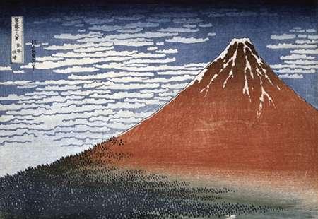 konfigurieren des Kunstdrucks in Wunschgröße Fuji In Clear Weather von Hokusai