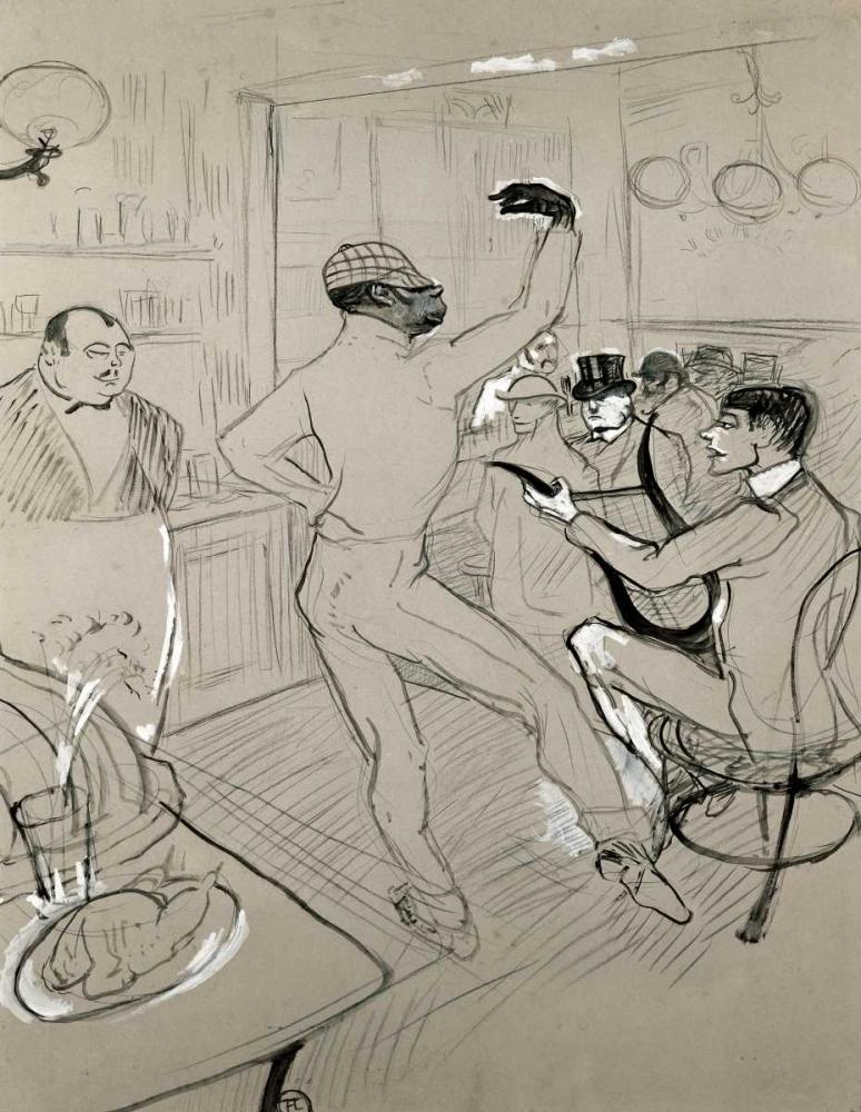 konfigurieren des Kunstdrucks in Wunschgröße Chocolat Dansant von Toulouse-Lautrec, Henri
