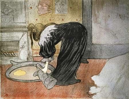 konfigurieren des Kunstdrucks in Wunschgröße Elles: Woman with a Tub von Toulouse-Lautrec, Henri