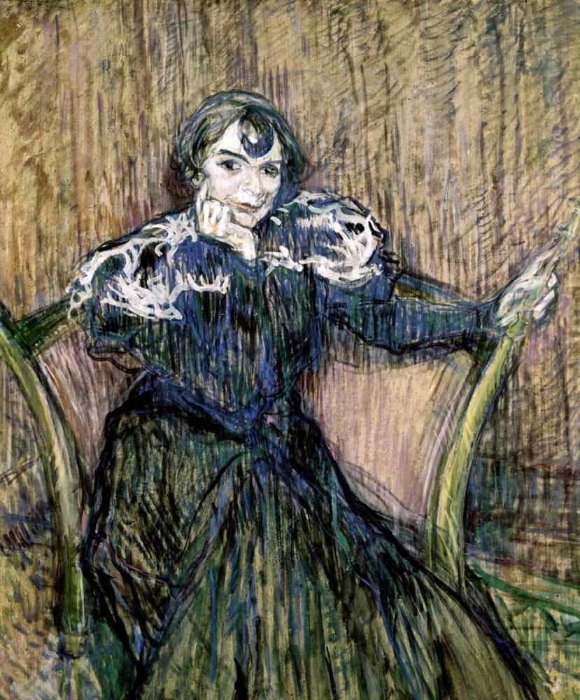 konfigurieren des Kunstdrucks in Wunschgröße Madame Berthe Bady von Toulouse-Lautrec, Henri