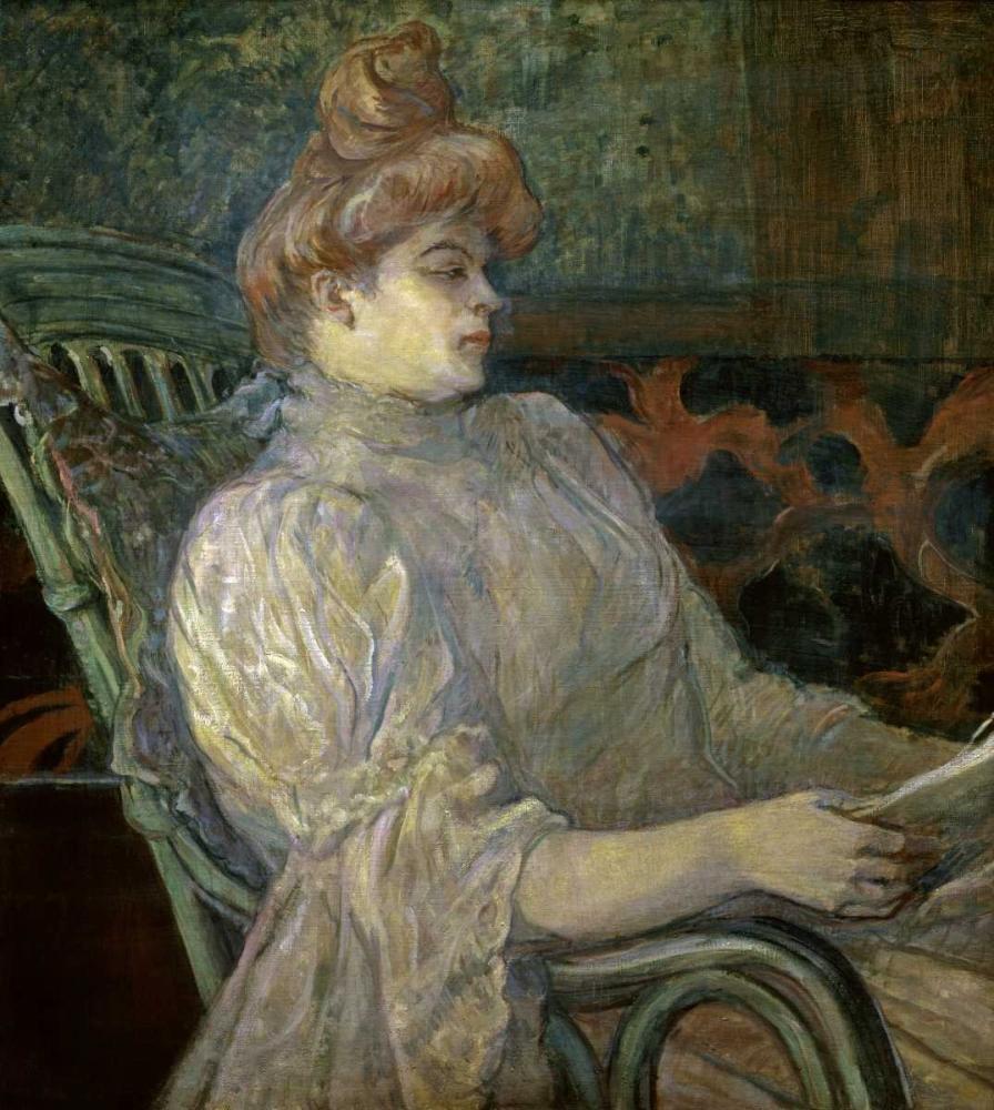 Woman Reading - Femme Lisant von Toulouse-Lautrec, Henri <br> max. 84 x 94cm <br> Preis: ab 10€