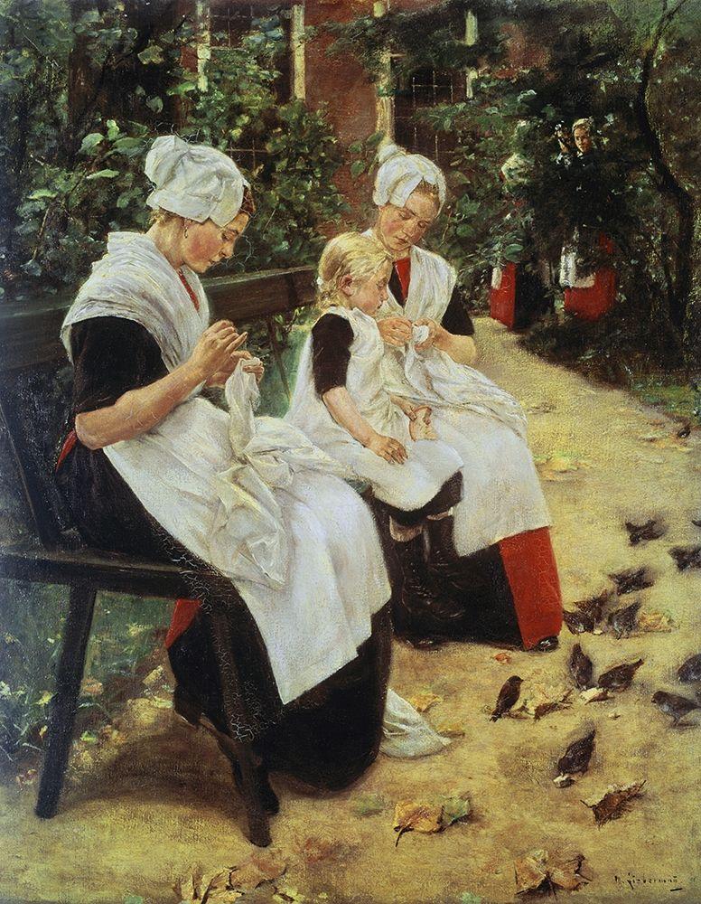 konfigurieren des Kunstdrucks in Wunschgröße Orphan Girls In The Garden, Amsterdam von Liebermann, Max