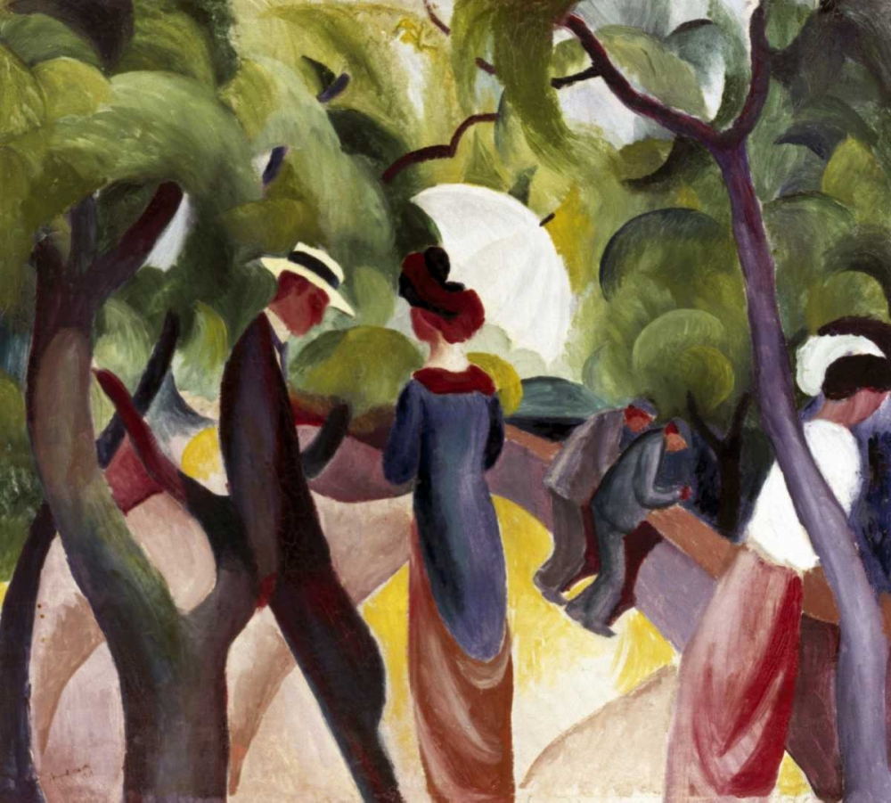 abstract,figures,landscapes and scenery,Abstract Landscapes,Abstract,Landscape,Figurative,,,278320,Promenade,Macke, August,Horizontal