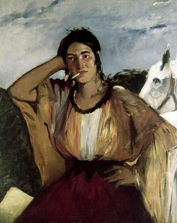 Gypsy with a Cigarette (Indian Woman Smoking) von Manet, Edouard <br> max. 79 x 99cm <br> Preis: ab 10€