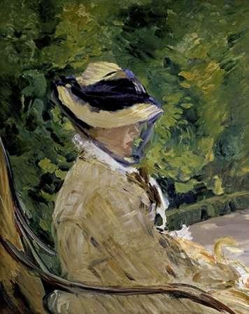 konfigurieren des Kunstdrucks in Wunschgröße Madame Manet at Bellevue von Manet, Edouard