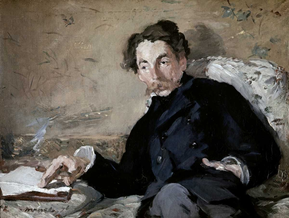 konfigurieren des Kunstdrucks in Wunschgröße Stephane Mallarme von Manet, Edouard