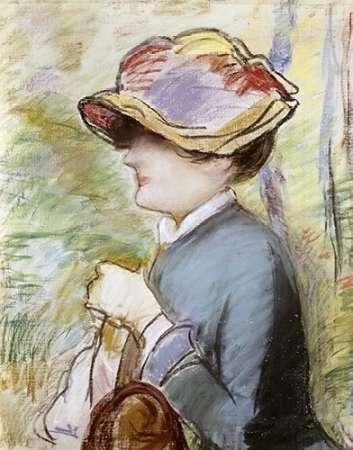 konfigurieren des Kunstdrucks in Wunschgröße Young Woman in a Broad Hat von Manet, Edouard