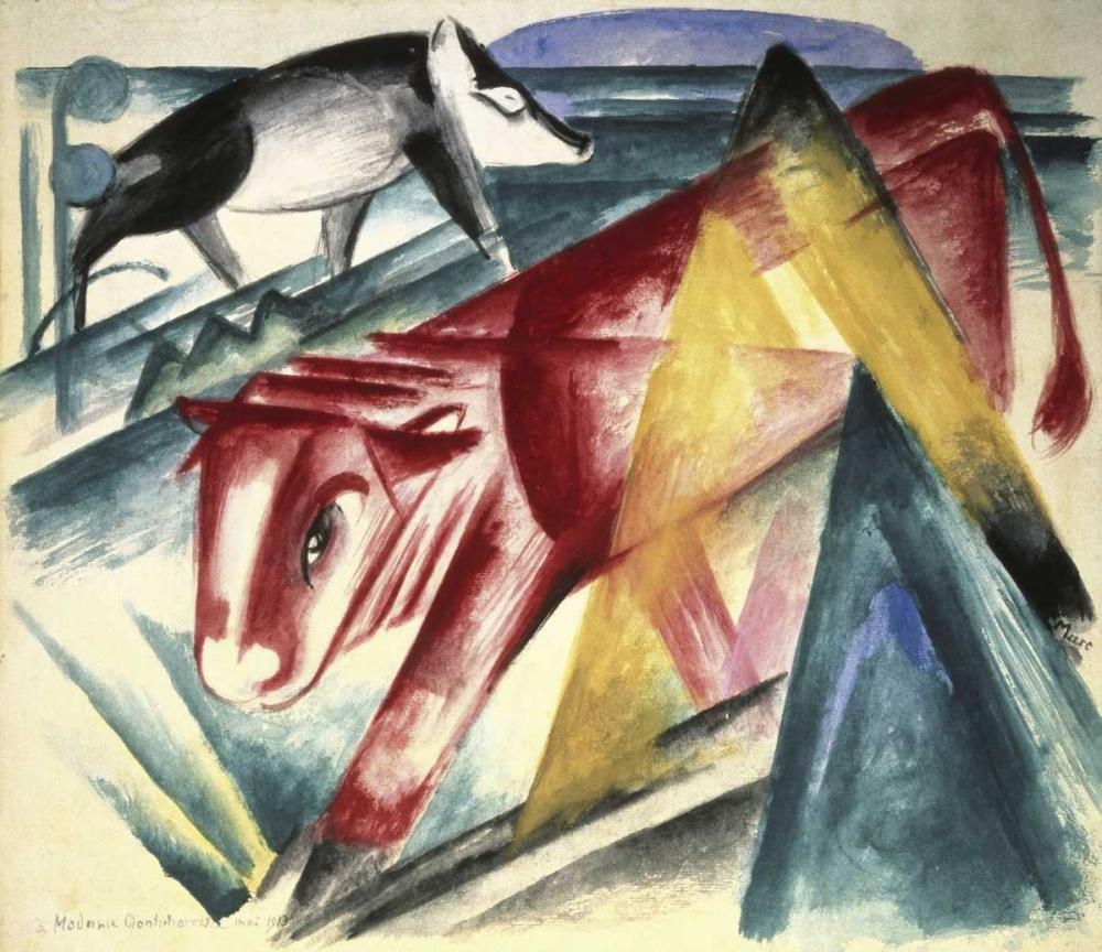 konfigurieren des Kunstdrucks in Wunschgröße Animals von Marc, Franz