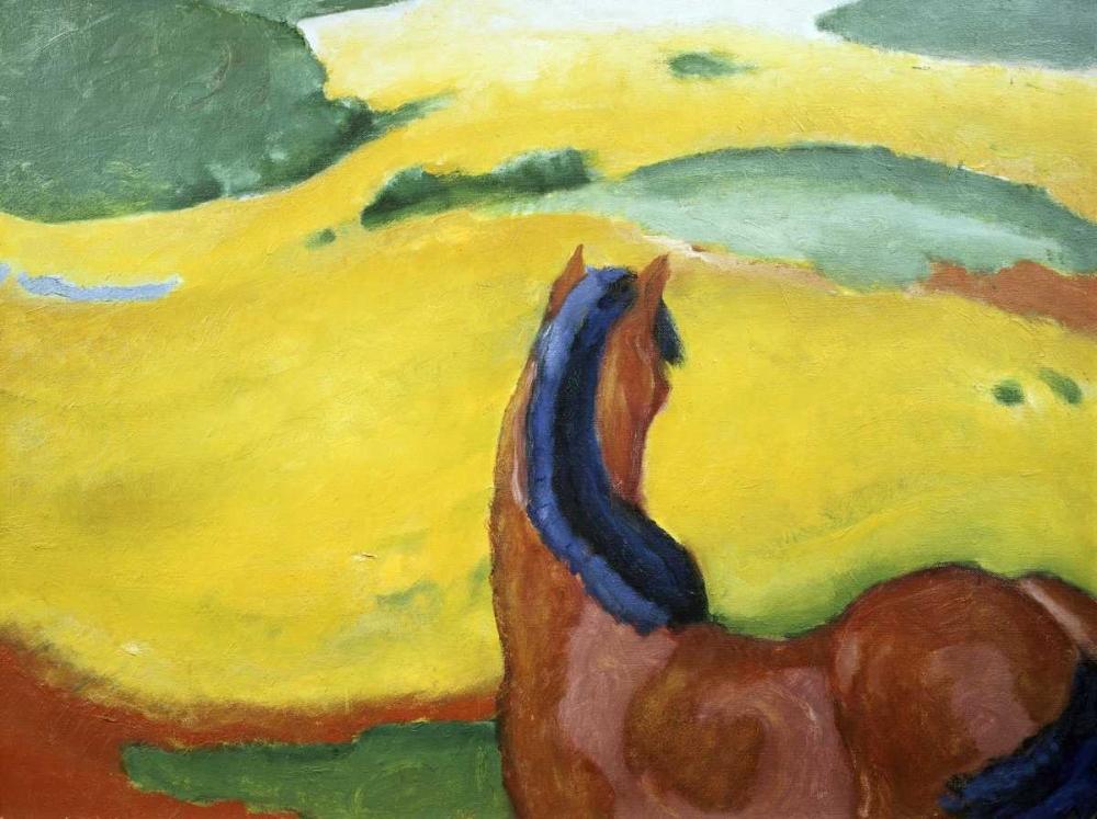 konfigurieren des Kunstdrucks in Wunschgröße Horse in the Landscape von Marc, Franz