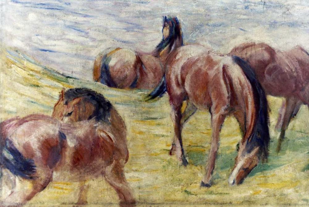 konfigurieren des Kunstdrucks in Wunschgröße Horses Out To Pasture von Marc, Franz