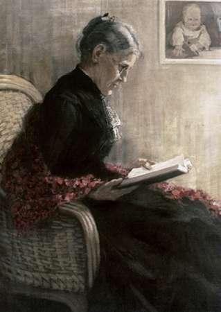 konfigurieren des Kunstdrucks in Wunschgröße Portrait of Mother von Marc, Franz
