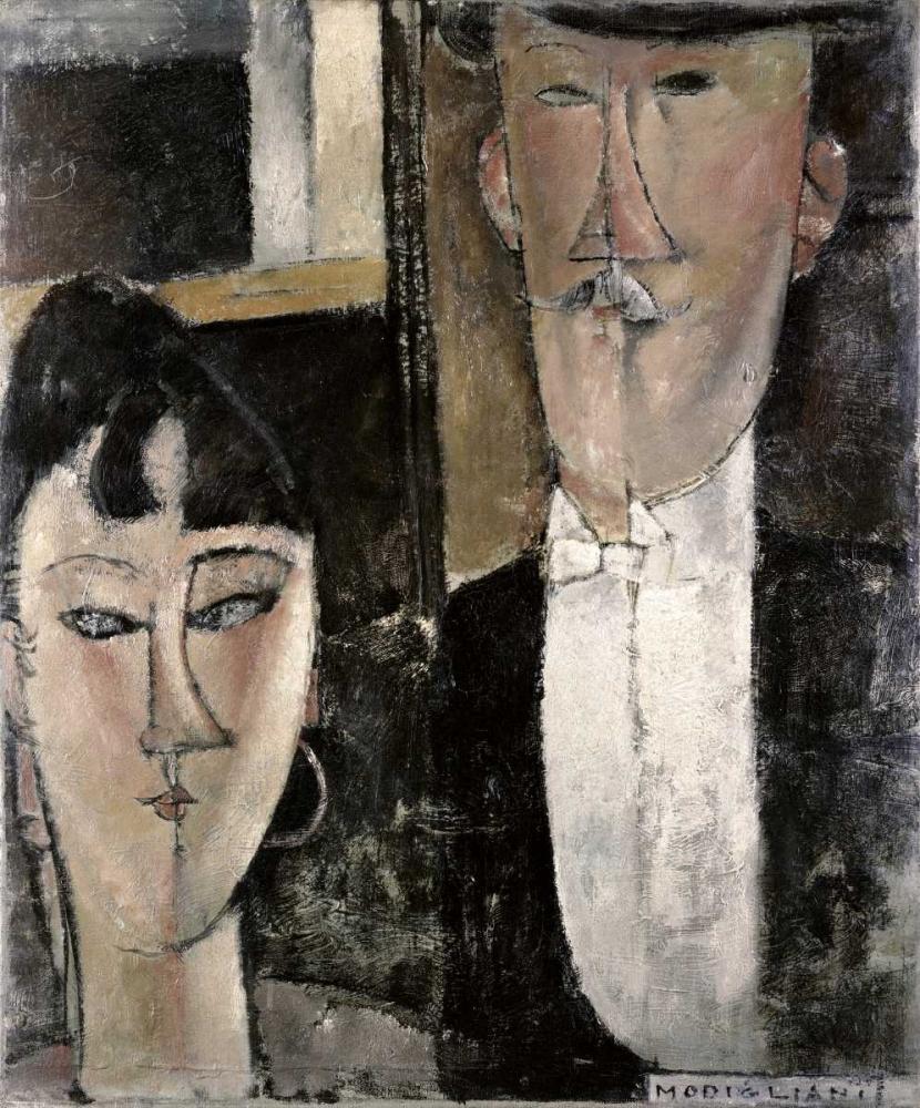 Bride and Groom von Modigliani, Amedeo <br> max. 81 x 97cm <br> Preis: ab 10€