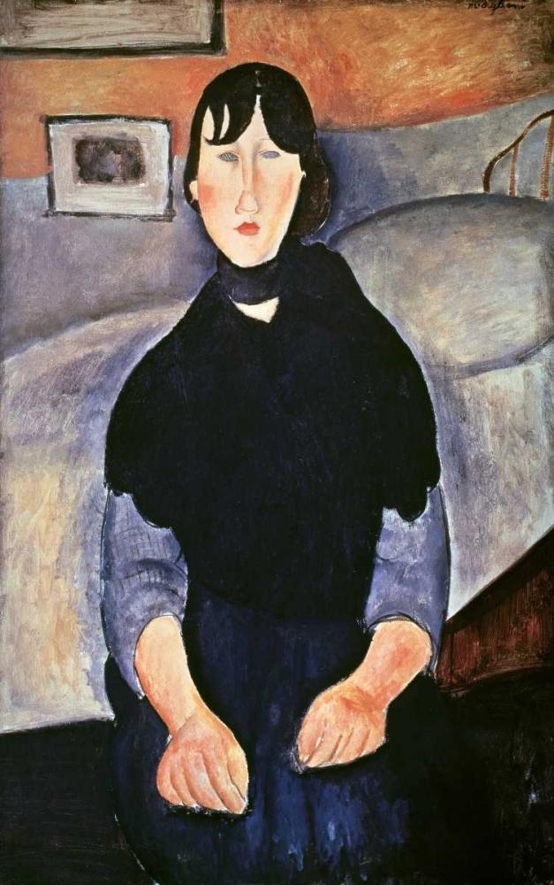 konfigurieren des Kunstdrucks in Wunschgröße La Fille du Peuple von Modigliani, Amedeo