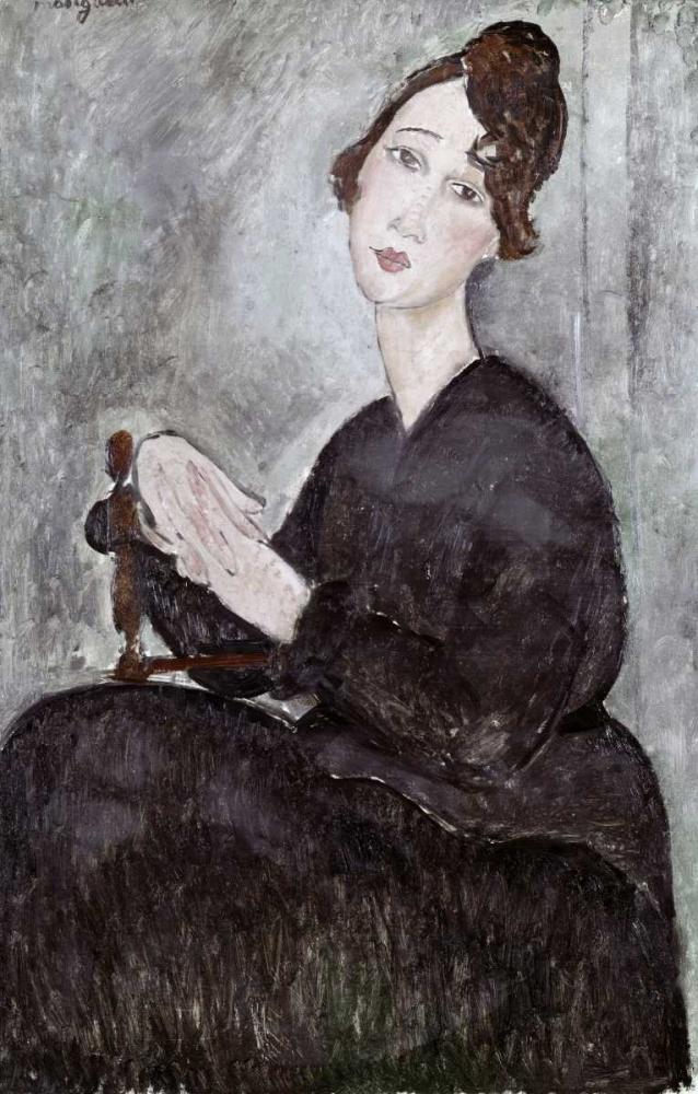 konfigurieren des Kunstdrucks in Wunschgröße Portrait of Madame Mayden von Modigliani, Amedeo