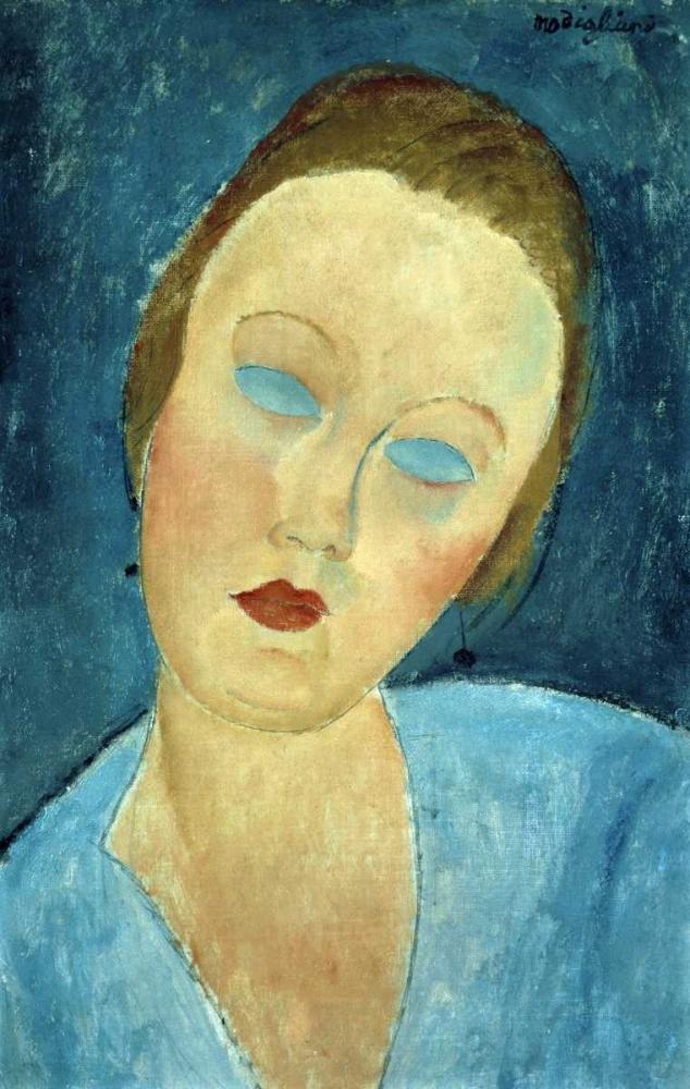 konfigurieren des Kunstdrucks in Wunschgröße Portrait of Madame Survage von Modigliani, Amedeo