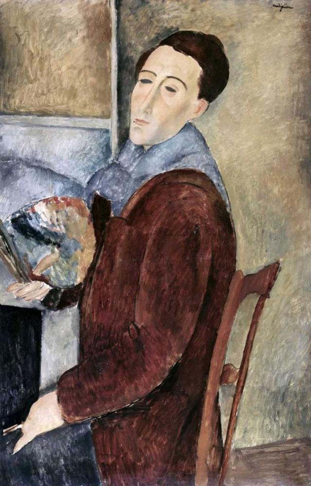 konfigurieren des Kunstdrucks in Wunschgröße Self-Portrait von Modigliani, Amedeo