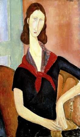 konfigurieren des Kunstdrucks in Wunschgröße Young Woman (Au Foulard) von Modigliani, Amedeo