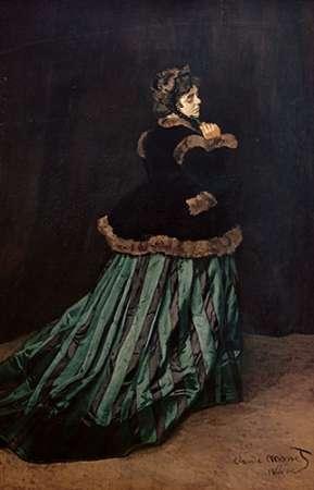 konfigurieren des Kunstdrucks in Wunschgröße Camille, the Woman in Green von Monet, Claude