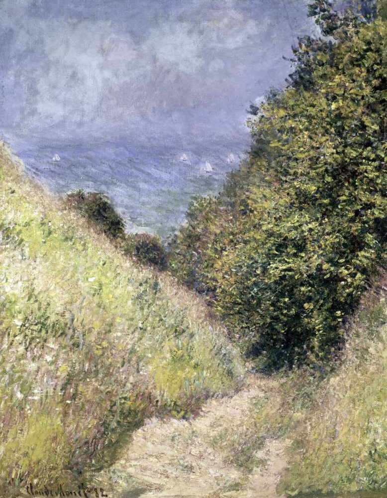 konfigurieren des Kunstdrucks in Wunschgröße Chemin de la Cavee, Pourville von Monet, Claude