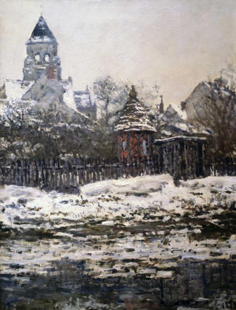 konfigurieren des Kunstdrucks in Wunschgröße Church at Vetheuil, Winter von Monet, Claude