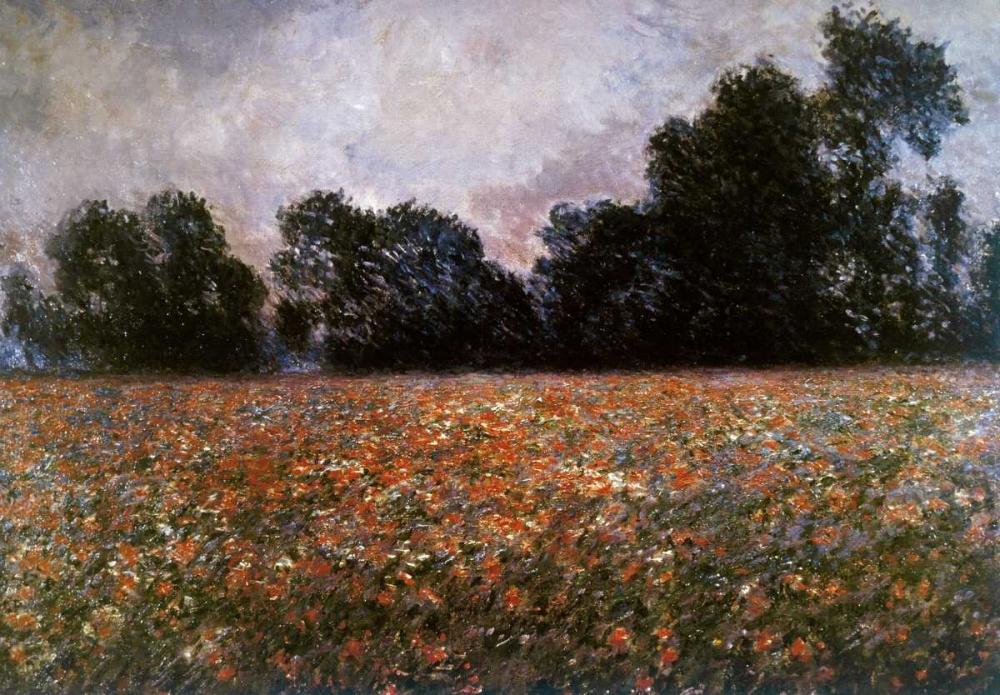 konfigurieren des Kunstdrucks in Wunschgröße Field of Wild Poppies von Monet, Claude