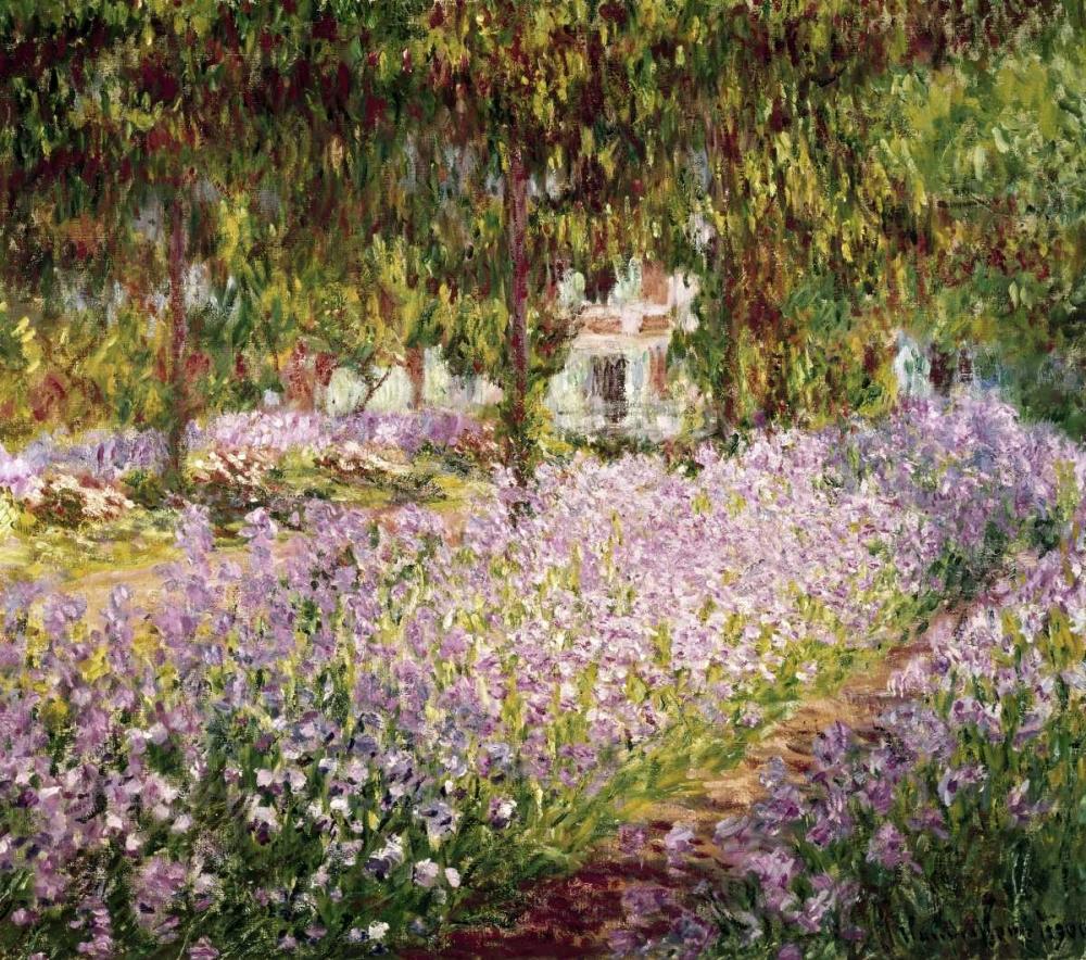 konfigurieren des Kunstdrucks in Wunschgröße Garden at Giverny von Monet, Claude