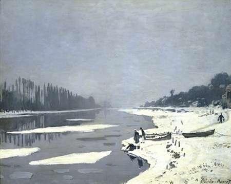 konfigurieren des Kunstdrucks in Wunschgröße Ice Floes on the Seine at Bougival, 1868 von Monet, Claude