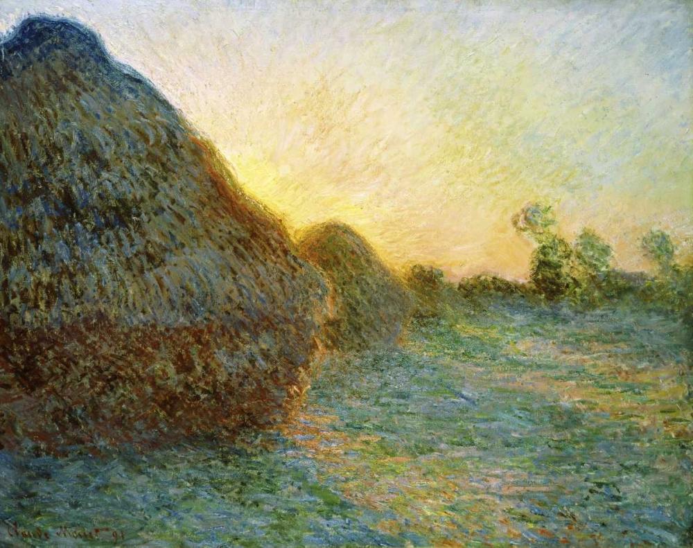 konfigurieren des Kunstdrucks in Wunschgröße Haystacks, 1891 von Monet, Claude