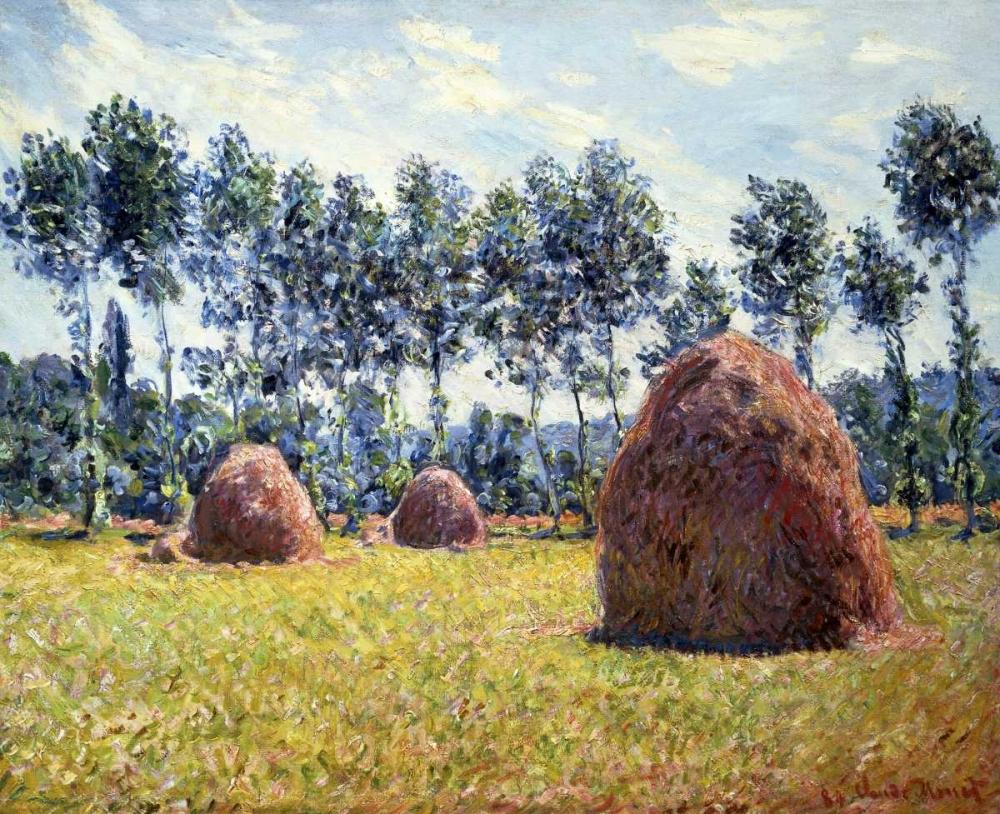 konfigurieren des Kunstdrucks in Wunschgröße Haystacks at Giverny von Monet, Claude