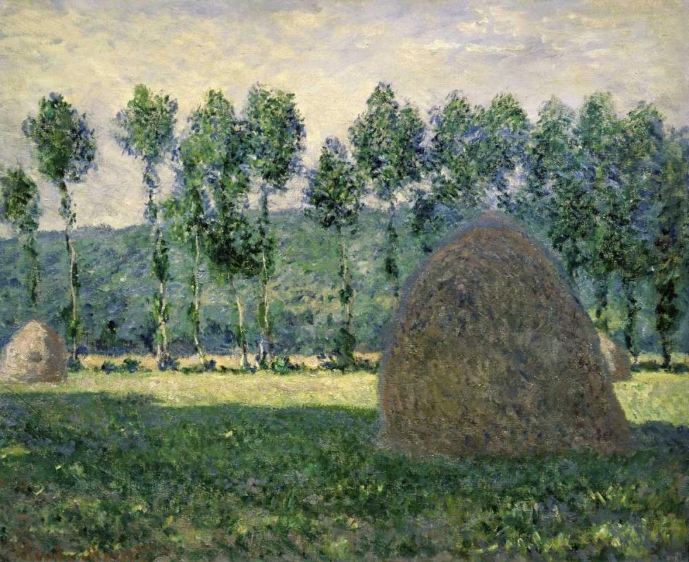 konfigurieren des Kunstdrucks in Wunschgröße Haystacks Near Giverny von Monet, Claude