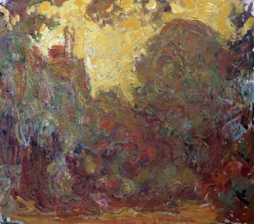 konfigurieren des Kunstdrucks in Wunschgröße La maison de Giverny von Monet, Claude