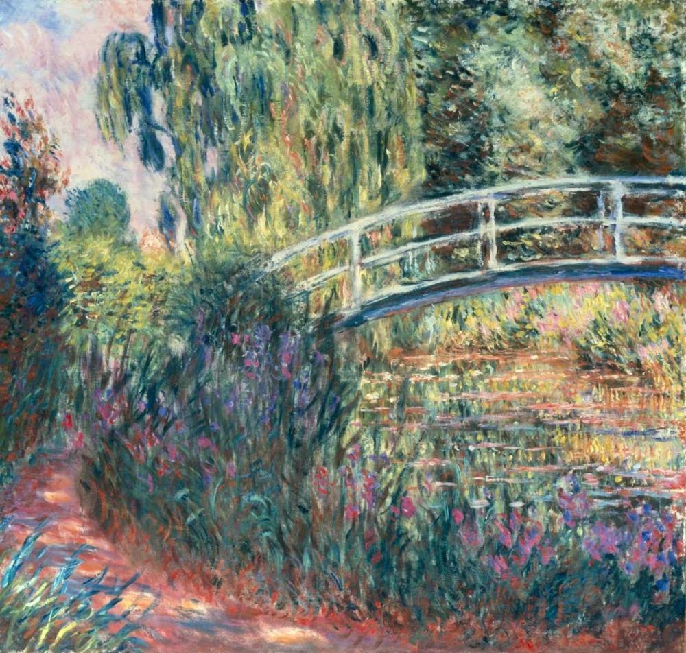 konfigurieren des Kunstdrucks in Wunschgröße Le pont japonais: bassin aux nympheas von Monet, Claude