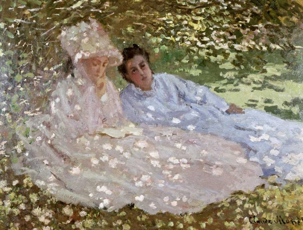 konfigurieren des Kunstdrucks in Wunschgröße Madame Monet in the Garden von Monet, Claude