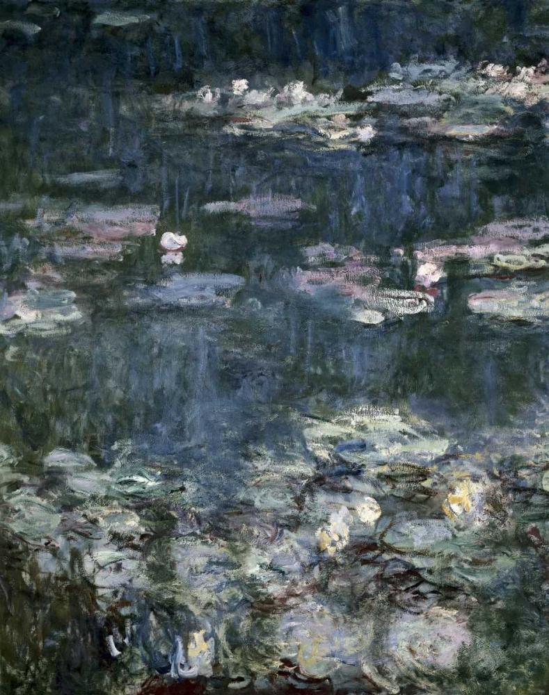 konfigurieren des Kunstdrucks in Wunschgröße Nympheas - Water Lilies - detail von Monet, Claude