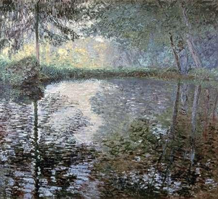 konfigurieren des Kunstdrucks in Wunschgröße The Pond at Montgeron, 1876 von Monet, Claude