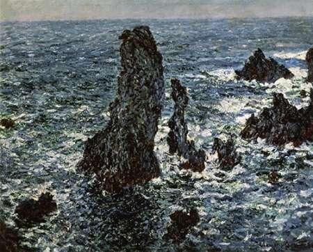 konfigurieren des Kunstdrucks in Wunschgröße Rocks at Belle Isle von Monet, Claude