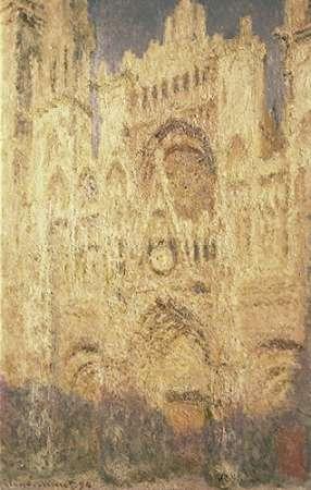 konfigurieren des Kunstdrucks in Wunschgröße Rouen Cathedral in the Evening von Monet, Claude