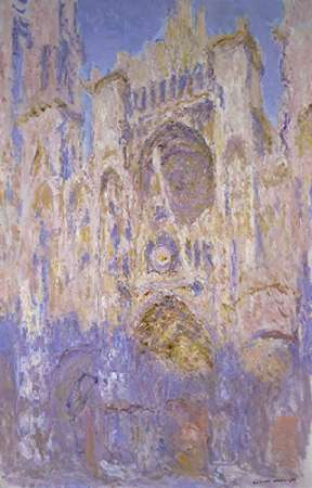 konfigurieren des Kunstdrucks in Wunschgröße Rouen Cathedral, Effects of Sunlight, Sunset von Monet, Claude