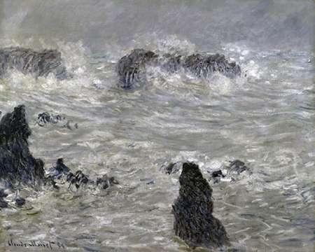 konfigurieren des Kunstdrucks in Wunschgröße Storm Off the Coast of Belle Isle von Monet, Claude