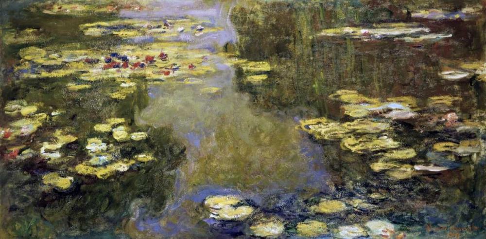 konfigurieren des Kunstdrucks in Wunschgröße Water Lily Pond - Le Bassin aux nympheas von Monet, Claude