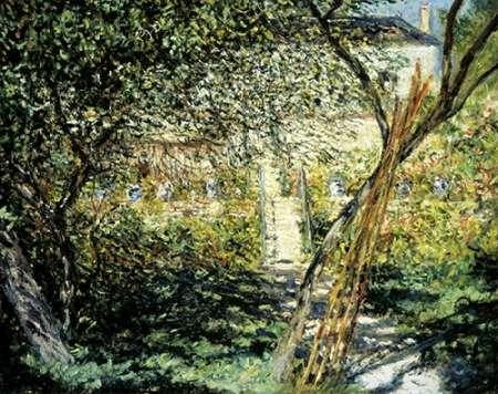 konfigurieren des Kunstdrucks in Wunschgröße The Garden of Vetheuil (Le Jardin de Vetheuil) von Monet, Claude