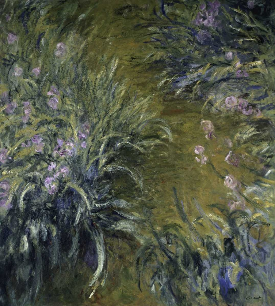abstract,flowers and plants,floral,gardens,Abstract Florals,Abstract Landscapes,Iris,Abstract,Floral,Landscape,,,278716,The Path Through the Irises,Monet, Claude,Vertical