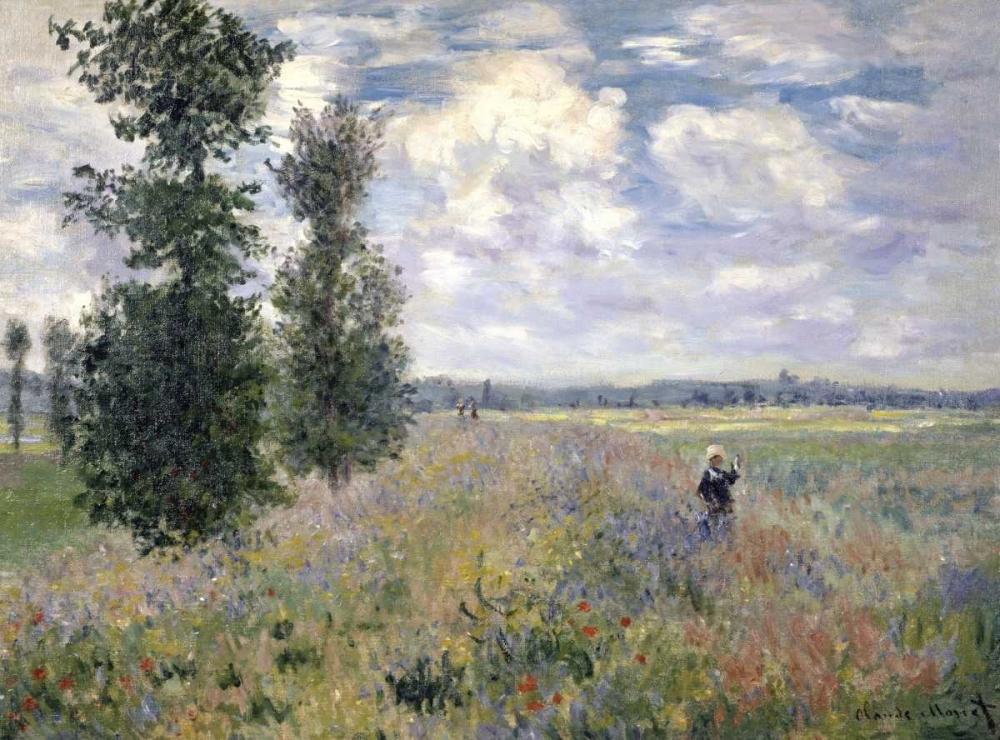 konfigurieren des Kunstdrucks in Wunschgröße The Poppy Field, Argenteuil von Monet, Claude