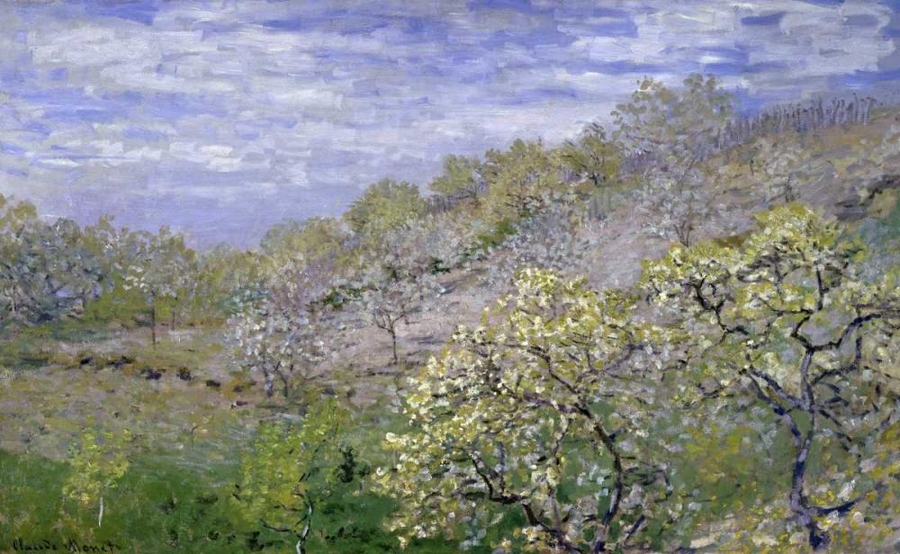 konfigurieren des Kunstdrucks in Wunschgröße Trees in Bloom - Arbres en fleurs von Monet, Claude