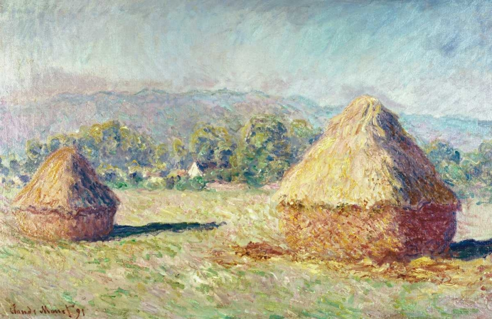 konfigurieren des Kunstdrucks in Wunschgröße Two Haystacks von Monet, Claude