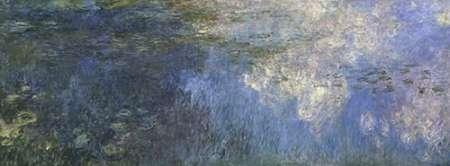 konfigurieren des Kunstdrucks in Wunschgröße Water Lilies: The Clouds, c. 1914-26 (left panel) von Monet, Claude