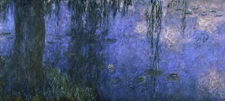 Water Lilies: Morning with Willows, c. 1918-26 (left panel) von Monet, Claude <br> max. 130 x 58cm <br> Preis: ab 10€