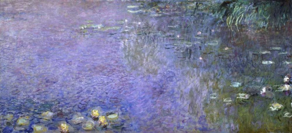 Water Lilies: Morning, c. 1914-26 - center-right panel von Monet, Claude <br> max. 124 x 56cm <br> Preis: ab 10€