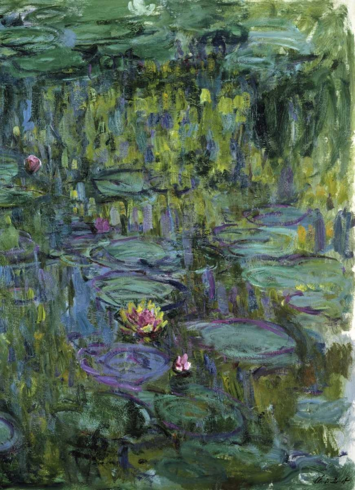 konfigurieren des Kunstdrucks in Wunschgröße Water Lilies - Nympheas XI von Monet, Claude